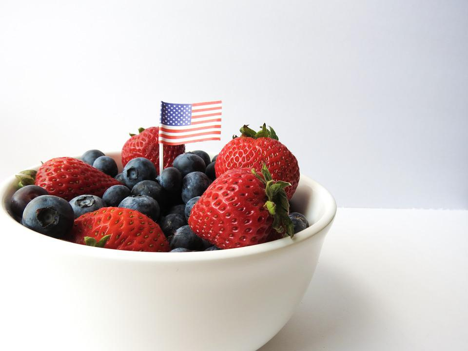 Fourth Of July, 4th Of July, Summer, Berries, America