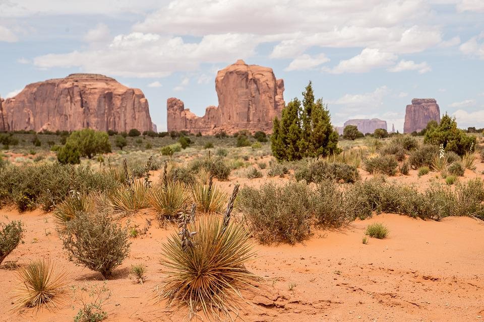 Monument Valley Park, Az, Usa, America, Mountains