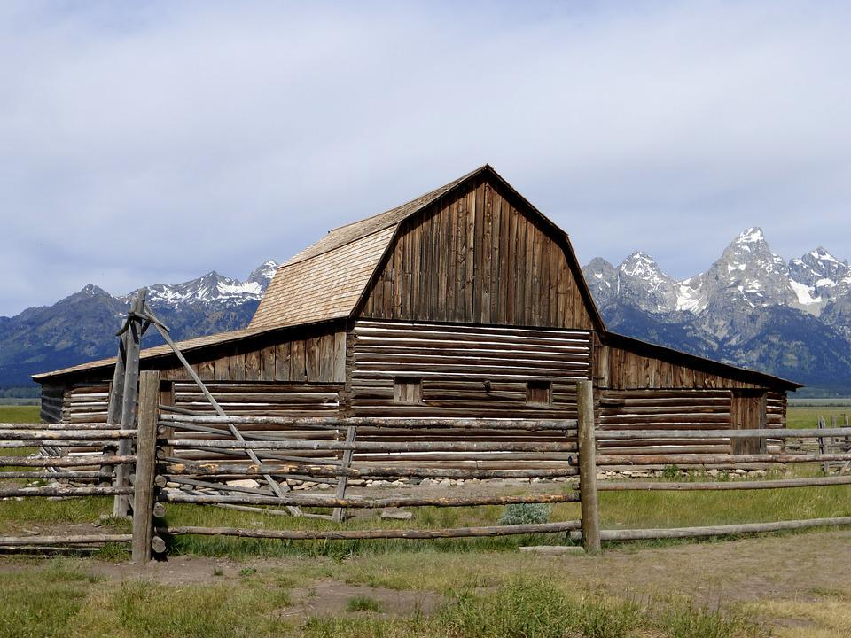 Building, America, Park, Grange, Wood, Rustic, Outdoor
