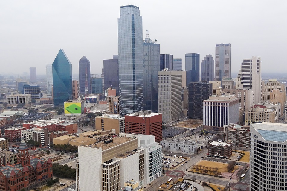 Dallas, Skyline, City, Texas, Downtown, America, Usa