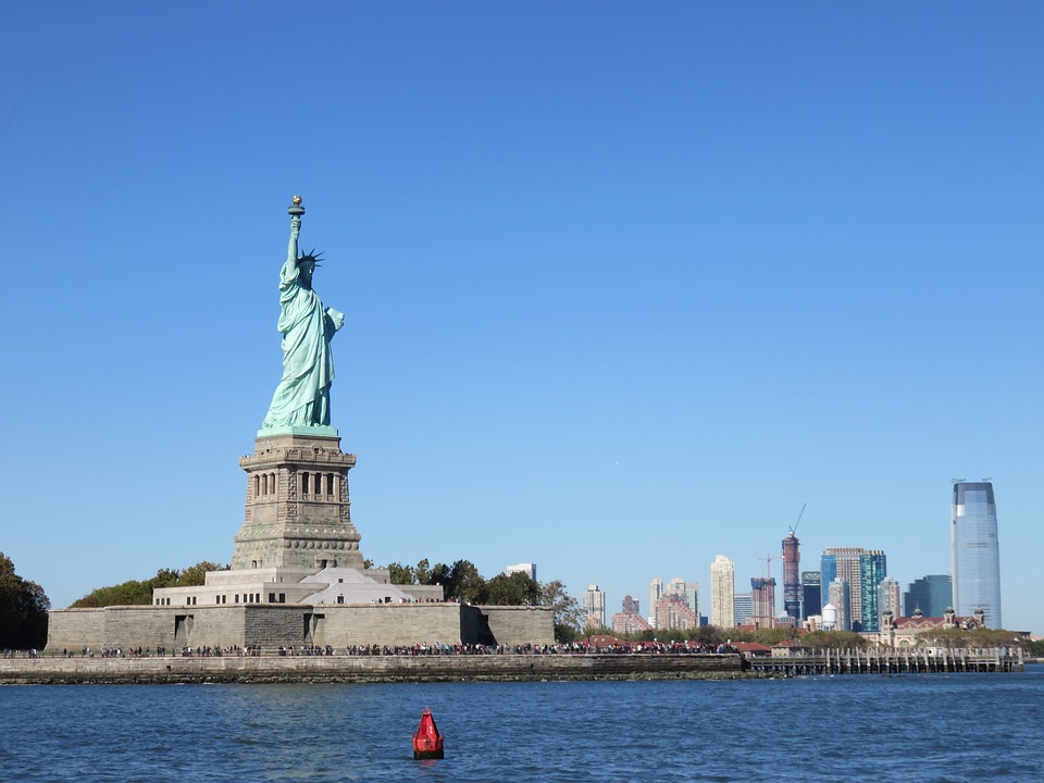 Statue, Liberty, Freedom, America, York, New, City, Usa