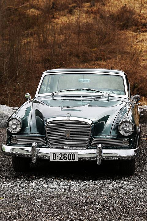 Car, Vehicle, Chrome, Old, American Car, Brown Car