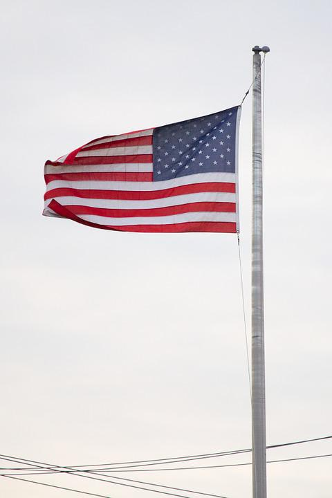 American Flag, Independence Day, Usa, Us, American