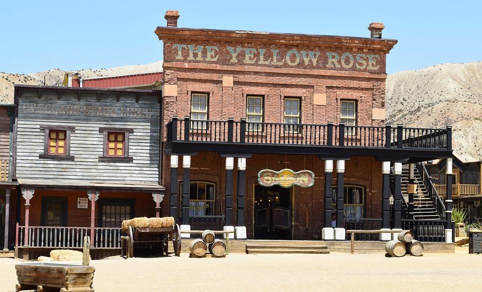 Bar, House, Saloon, Cowboy, Western Style, American