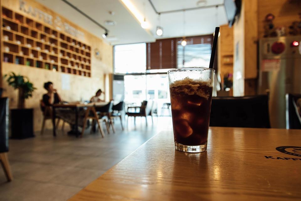 Americano, Ice, Coffee, Iced Americano, Glass Cup