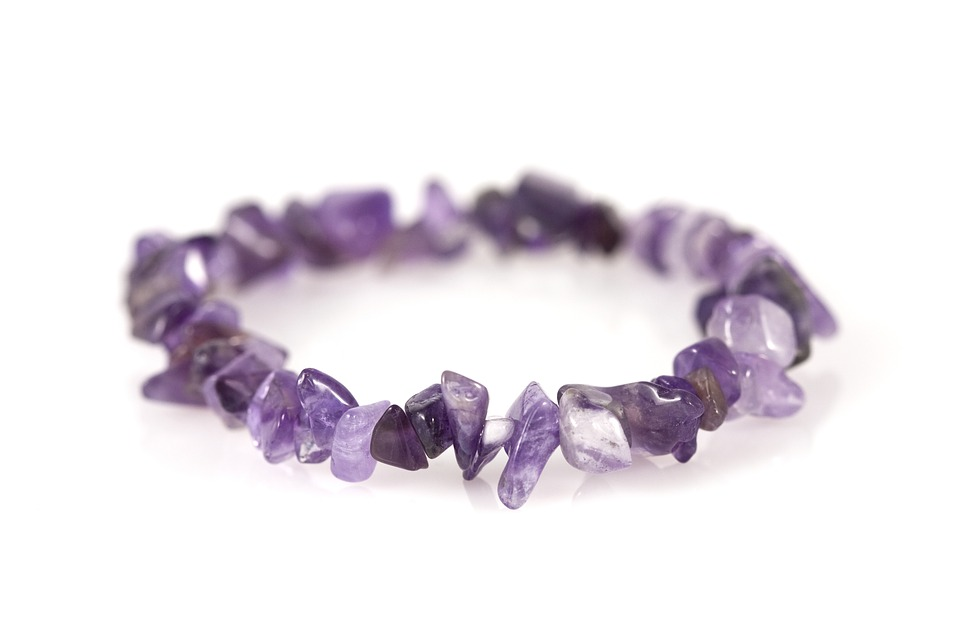 Bracelet, Amethyst, Purple, Product, Handmade, Jewel