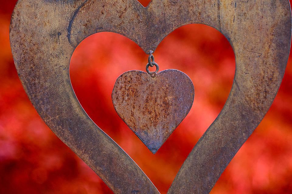 Heart, Love, Romance, Amorous, Background, Rust
