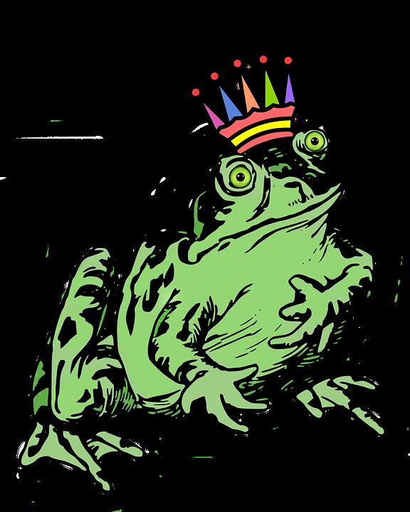 Frog, Crown, Prince, Amphibian