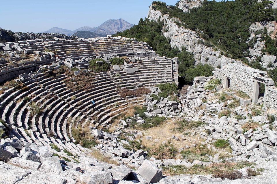 Ruins, Amphitheater, Termessos