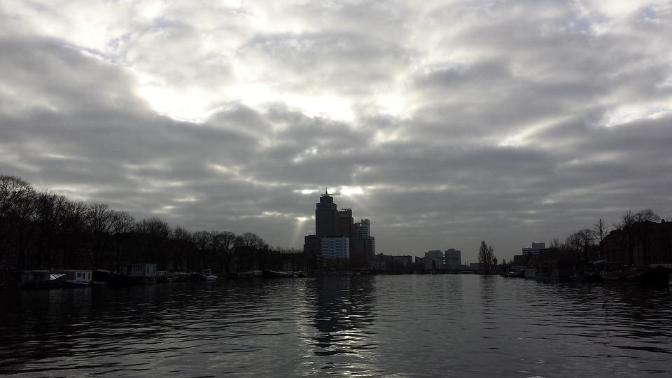Amsterdam, Amstel, Clouds