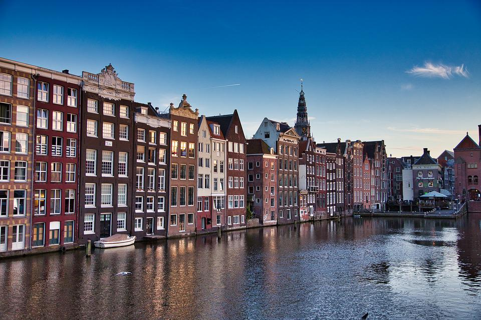 Amsterdam, Netherlands, Blue Sky