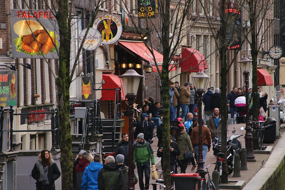 Amsterdam, Redlightdistrict, Canals, Whore Neighborhood
