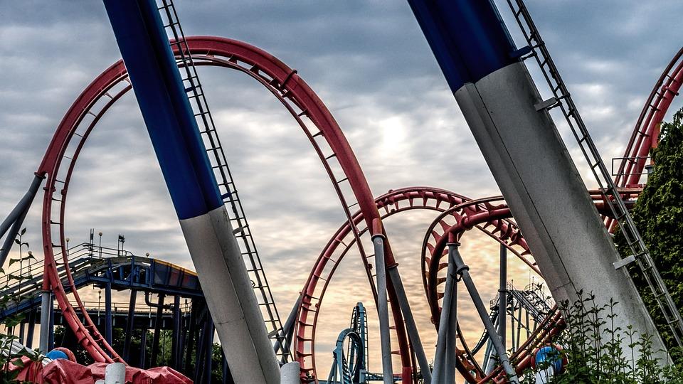 Roller Coaster, Dusk, Fun, Amusement, Roller, Coaster