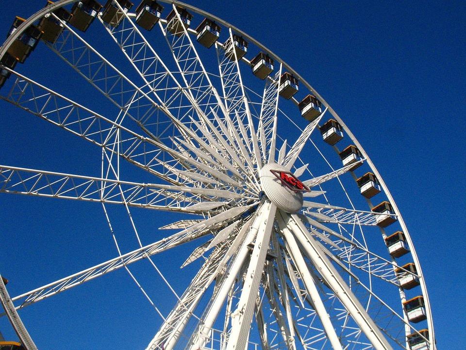 Ferris, Wheel, Ride, Amusement, Park, County, Fair