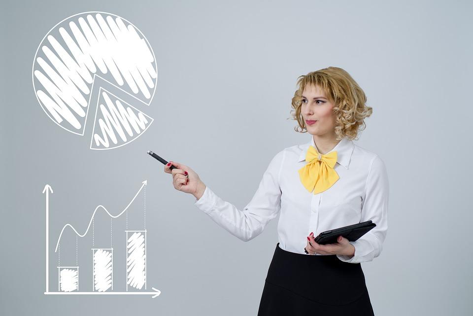 Analytics, Graph, Chart, Data, Analysis, Woman