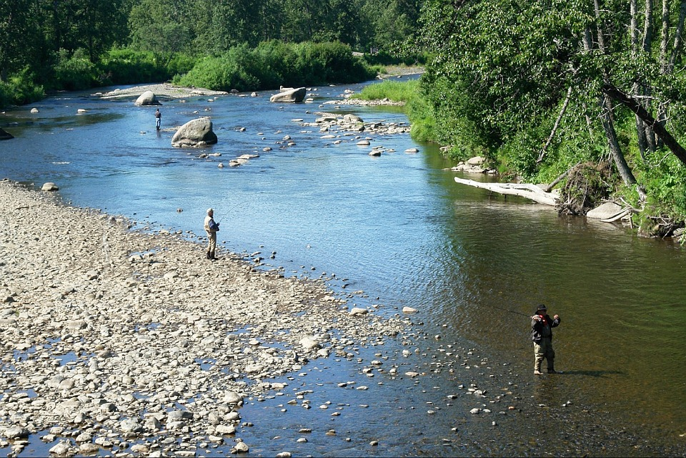 free photo anchor river river fishing fisherman man alaska max pixel