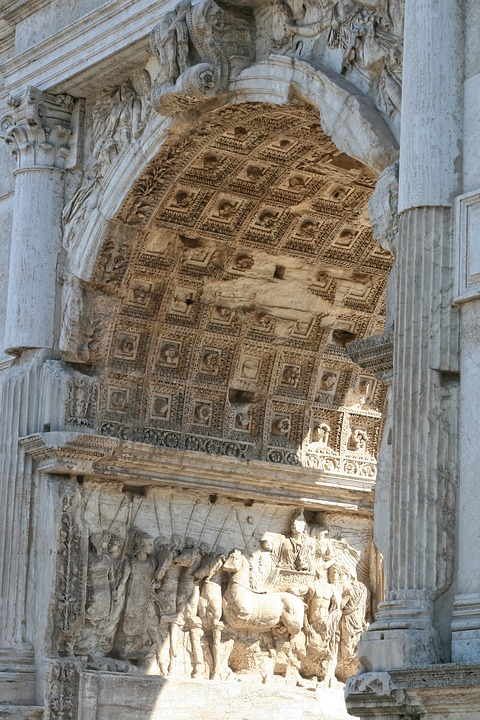 Italy, Rome, Arch Titus, Ancient Architecture