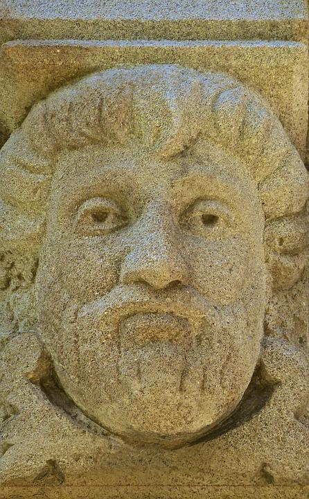 Face, Head, Stone, Carving, Ancient, Relief, Monument