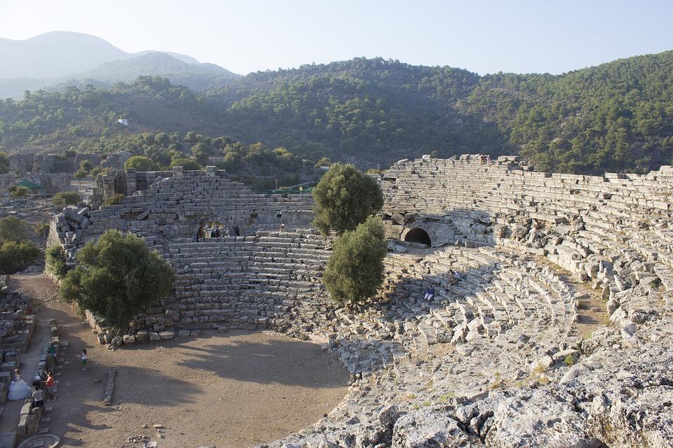 Theatre, Bc, Turkey, Cuanos, Kuanos, History, Ancient