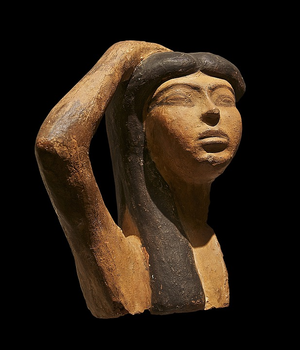 Isis, Bust, Egyptian, Ancient Egyptian, Woman, Face