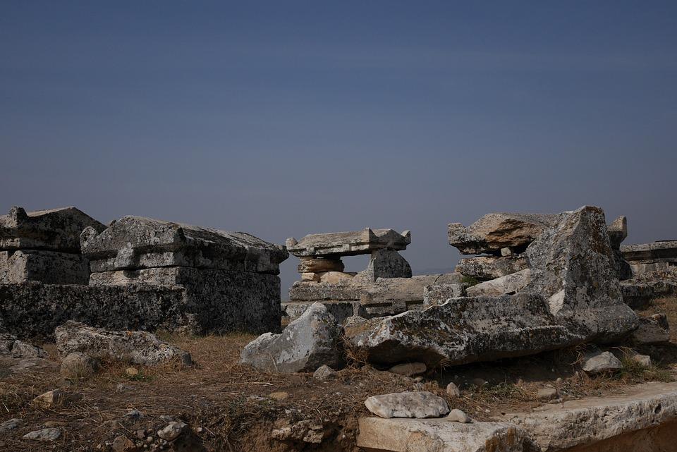 Turkey, Nekropolis, Hierapolis, Ancient, Pamukkale