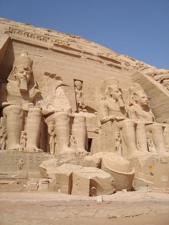 Abu Simbel, Egypt, Temple, Ancient History, Statue