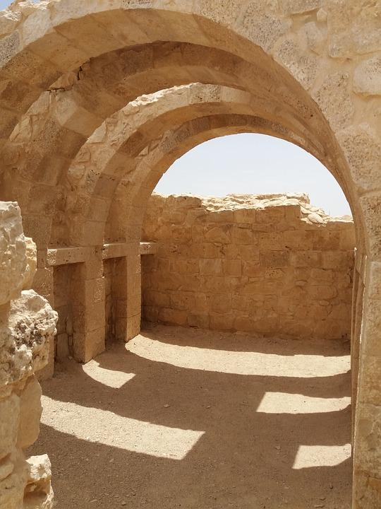 Israel, Ancient Ruins, Stone, Desert