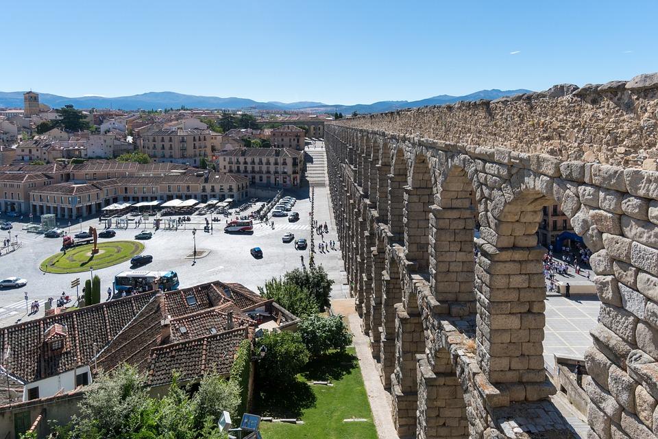 Segovia, Spain, Aqueduck, Ancient, Historic