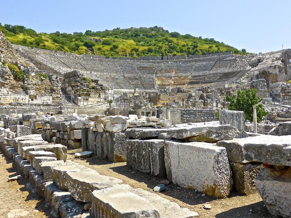 Ruins, Amphitheatre, Ancient, Turkey, Landmark