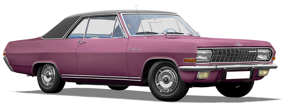 Opel Diplomat, V8, Coupe, Isolated, And Colored