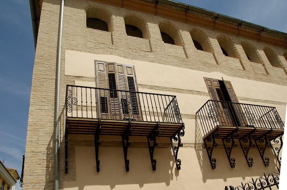 Spain, Lorca, Balconies, Shutters, Andalusia