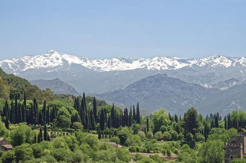 Spain, Andalusia, Sierra Nevada, Mountains, Snow