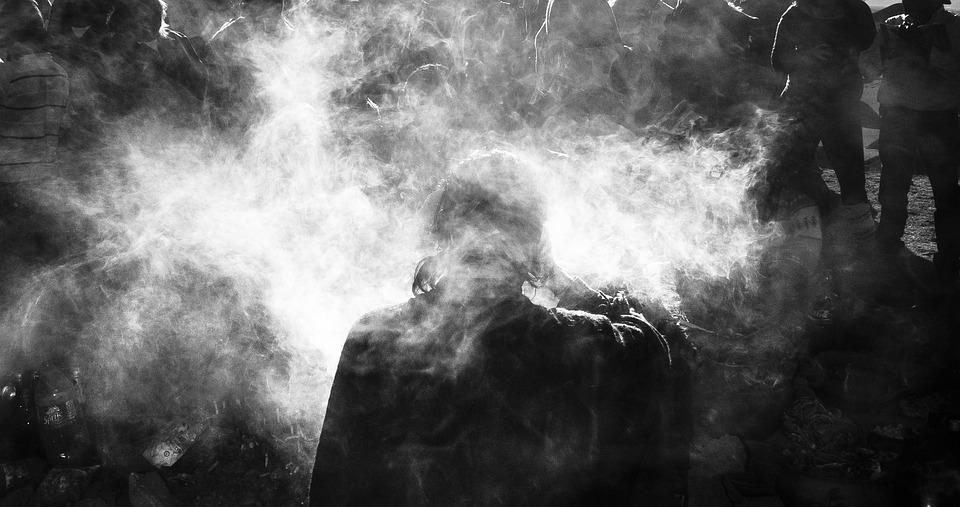 Andean, Religious, Ceremony, Smoke