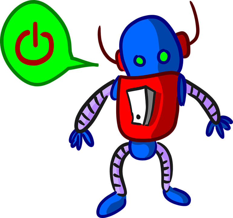 Robot, Android, Droid, Power Switch, Cartoon, Comic