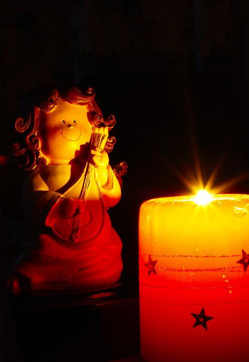 Angel, Candle, Burn, Fig, Sweet, Small, Christmas