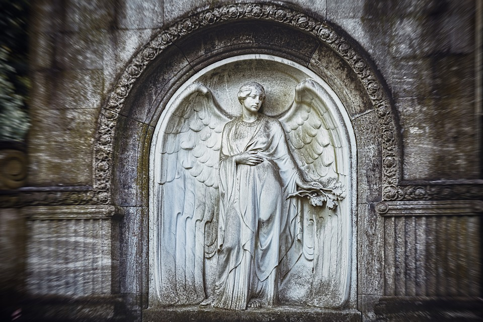 Angel, Sculpture, Statue, Figure, Cemetery, Hope, Stone