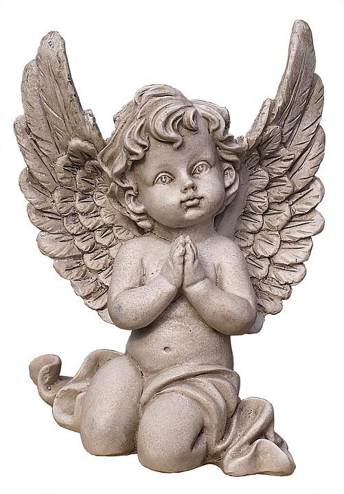 Angel, Figure, Cherub, Ceramic, Stone Figure