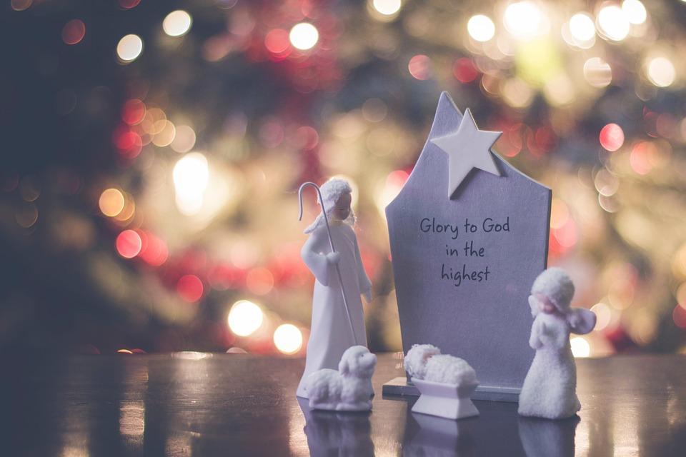 Christmas, Decor, Angel, Sheep, Star, Display