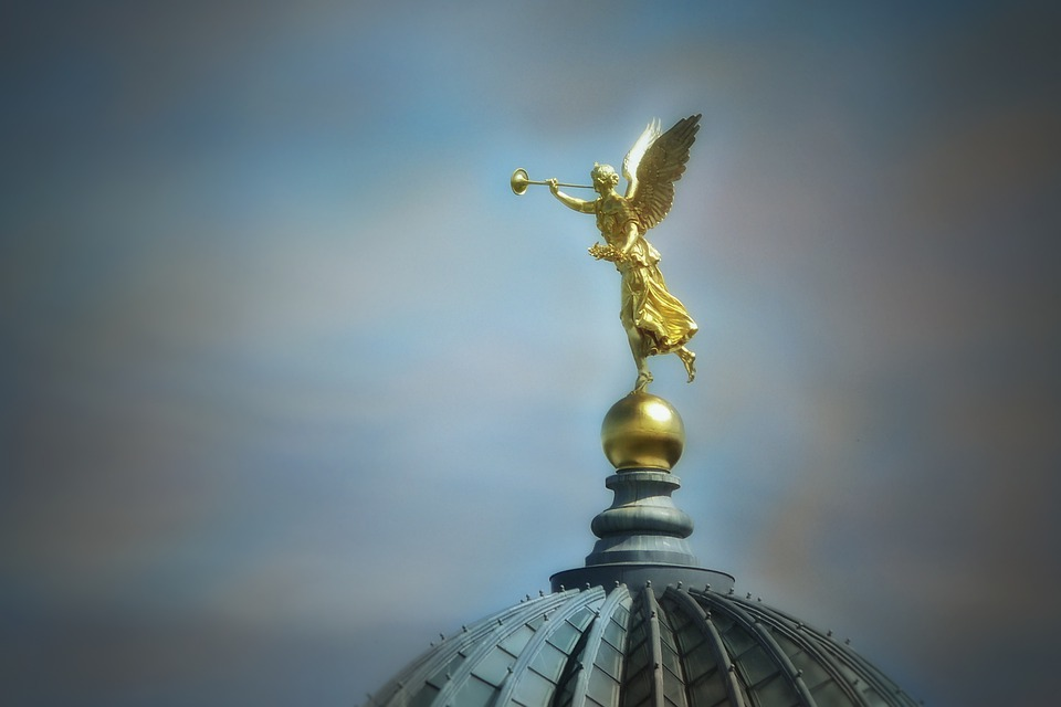 Angel, Statue, Figure, Architecture, Dresden, Germany
