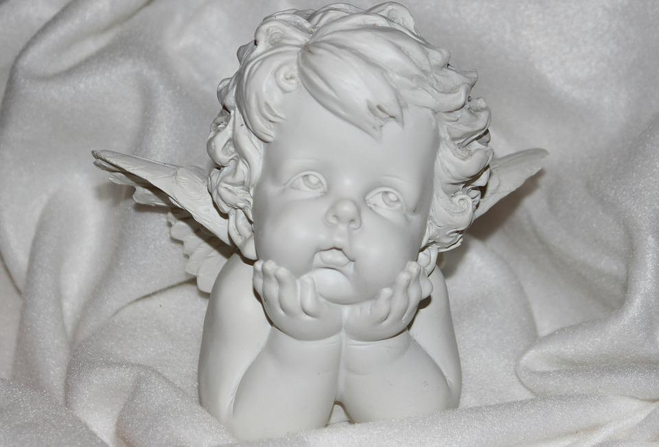 Angel, Angel Face, Small, Decoration, Angel Wings