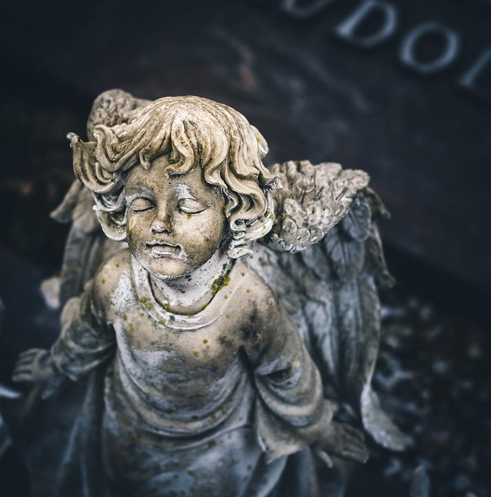 Angel, Grave, Hope, Longing, Mourning, Cry, Death, Wing