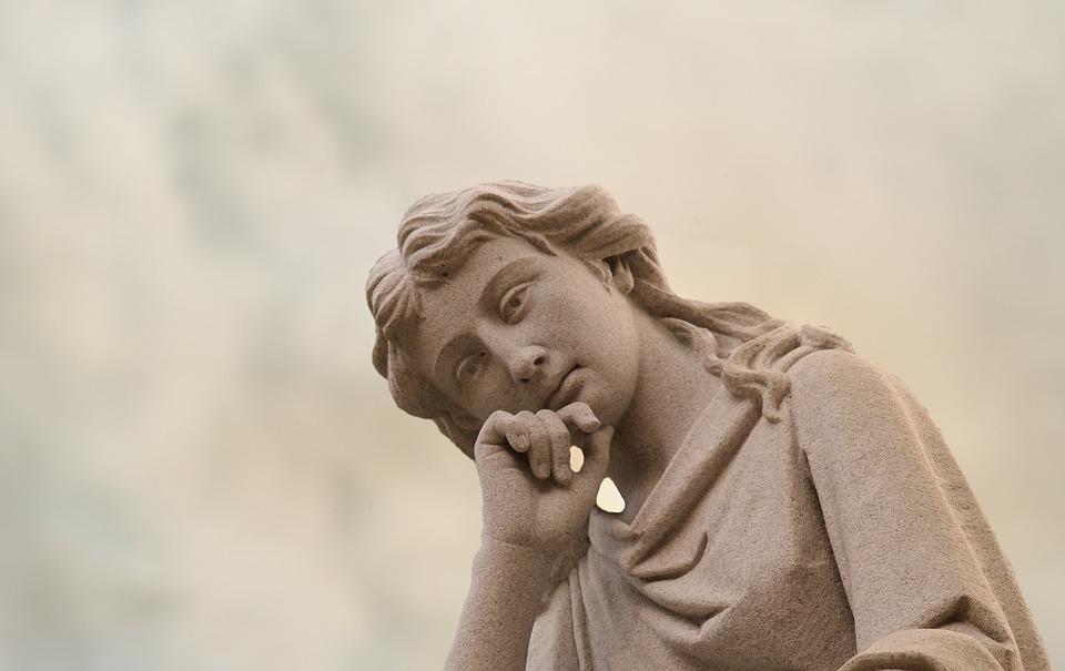 Angel, Profile, Sky, Face, Head, Statue, Sculpture, Art