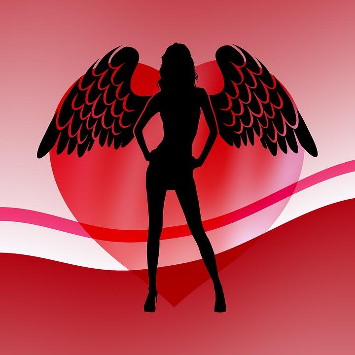 Angel, Naughty Angel, Heart, Love, Naughty, Romance
