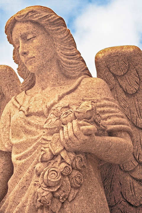Angel, Statue, Cemetery, Washelli, Seattle