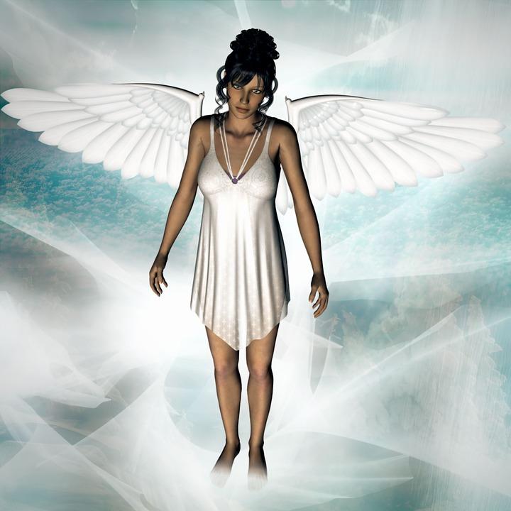 Angel, Fantasy, Sky, Woman, Female, Wing, Femininity