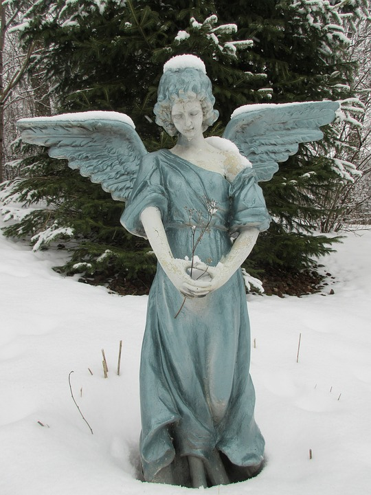 Angel, Peaceful, Winter, Religious