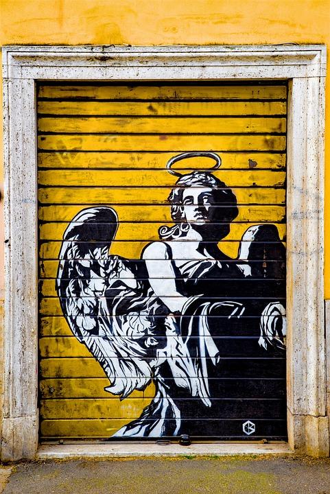 Graffiti, Tag, Angel, Urban, Paint, Grafitti, Yellow