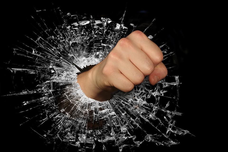 Fist, Strength, Anger, Tear, Breeze, Broken, Destroyed