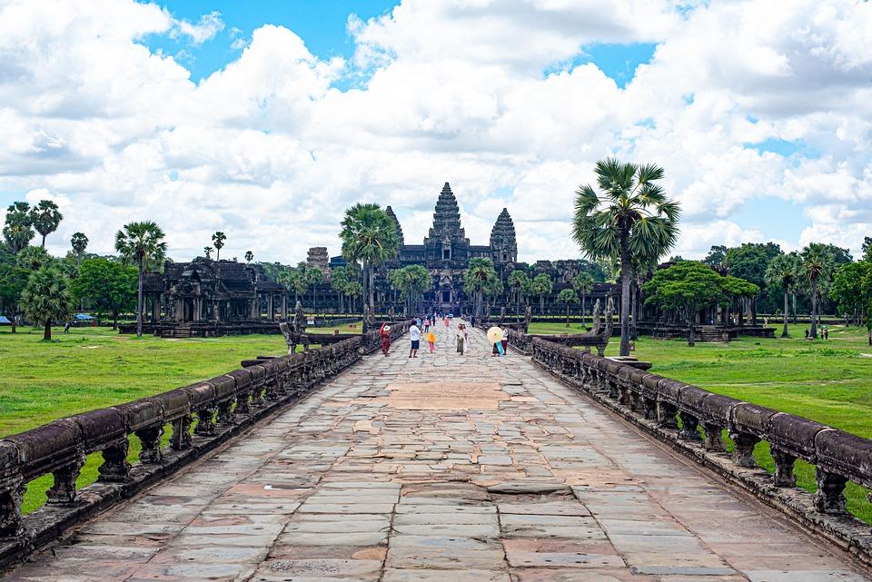 Temple, Stone, Ruins, Culture, Angkor, Cambodia, Khmer