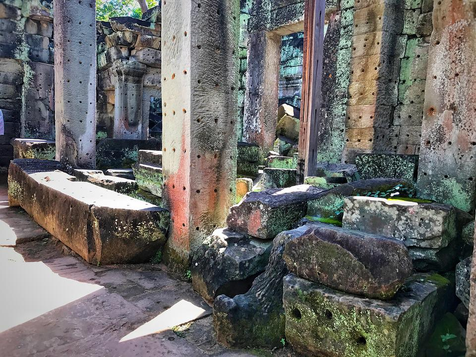 Preah Khan, Temple, Cambodia, Architecture, Angkor